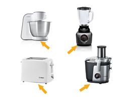 Kako poiskati e-nr oznako Boschevih malih gospodinjskih aparatov? Običajno se nahajajo na spodnji strani ohišja.