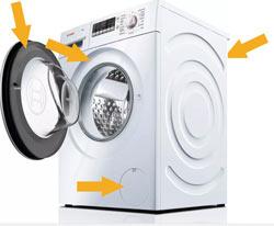 Kako piščem e-nr oznako Boschevega pomivalnega stroja? Oznaka se nahaja na obroču vrat.